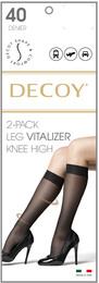 Decoy Shape & Comfort Knæstrømpe 2-pak Sort 40 Den. One Size