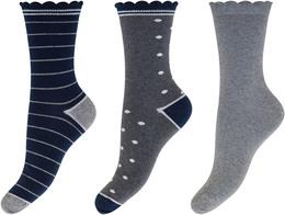 Decoy 3-pak strømpe Grey 37/41
