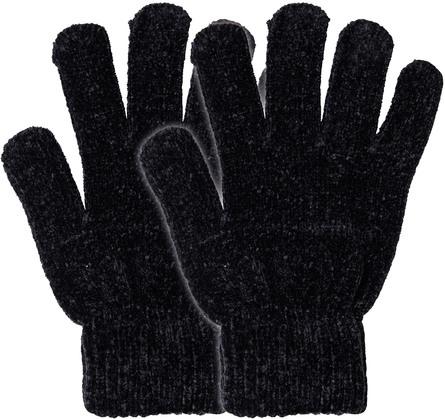 Laze Chenille Handsker Onesize 2-pak Sort