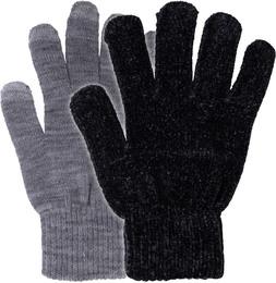 Laze Magic touch handske 2-pak sort/grå One size