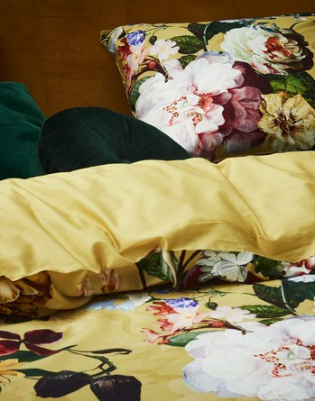 Essenza Fleur sengetøj golden yellow 140 x 200 cm