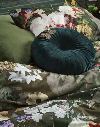 Essenza Fleur sengetøj Olive 140 x 200 cm