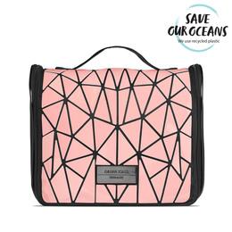Gillian Jones Toilettaske sort med rosa grafisk look 1