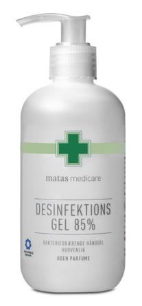 Matas Medicare Desinfektionsgel 85% 250 ml