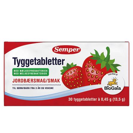 Semper BioGaia mælkesyrebakterietyggetabletter 30 stk