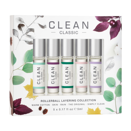 Clean Rollerball Layering Collection Gaveæske 5 x 5 ml