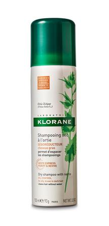 Klorane Dry Shampoo with Nettle Tinted Brunt til Mørkt Hår