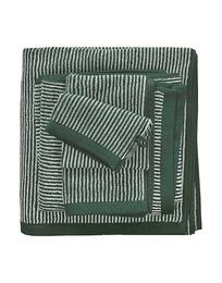 Marc O'Polo Timeless Tone Stripe Towel Pine green 70 x 140 cm
