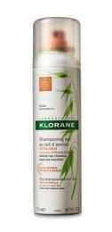 Klorane Dry Shampoo with Oat Milk Tinted Brunt til Mørkt Hår