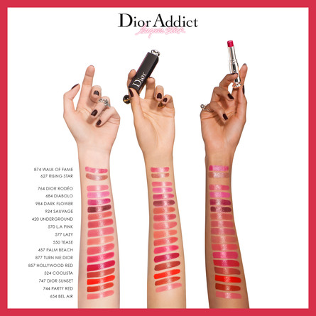 DIOR ADDICT LACQUER STICK LIQUIFIED SHINE, SATURAT 857 HOLLYWOOD RED