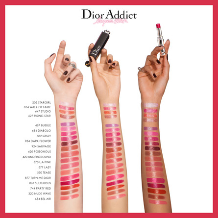 DIOR ADDICT LACQUER STICK LIQUIFIED SHINE, SATURAT 577 LAZY