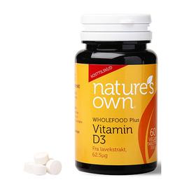 Panacea Vitamin D3 vegan udvundet af lavekstrakt 60 tab
