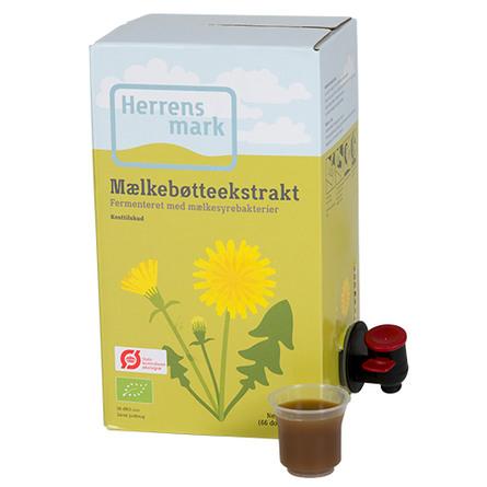 Herrens Mark Mælkebøtteekstrakt Øko bag-in-box 2 l