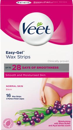 Veet Cold Wax Strips Bikini Normal Hud 16 stk.