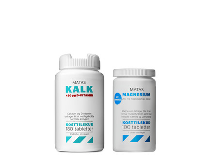 Helsepakke Matas Kalk og Magnesium 1 voksen