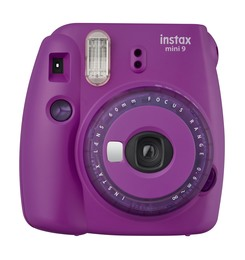 Instax Mini9 Analog Instant Kamera Clear Purple