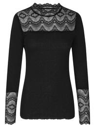 Rosemunde Silk T-shirt Black str. S