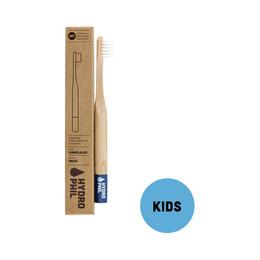 Organic Beauty Tandbørste bambus 1 stk børn blå