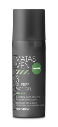 Matas Striber Men Oil Free Face Gel til Uren Hud Uden Parfume 50 ml