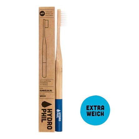 Tandbørste soft bambus blå 1 stk