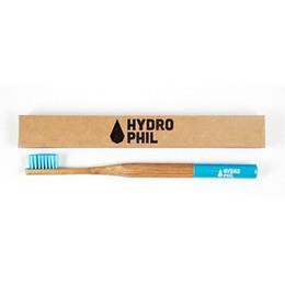 Organic Beauty Tandbørste bambus blå 1 stk soft blå