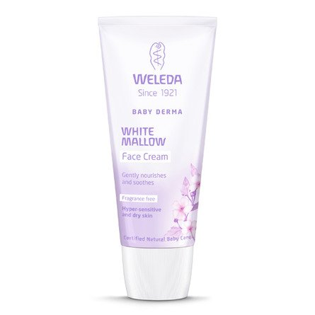 Face cream White Mallow Baby Derma Weleda 50 ml