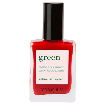 Green Manucurist Neglelak Poppy Red