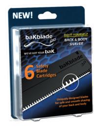 Bakblade 2.0 barberblade til rygskraber 6-pak 6 pak
