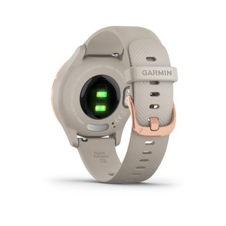 Garmin Vívomove 3S Lys Sand Silikone med Rosaguld-tone Hardware