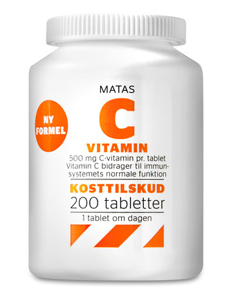 Matas Striber C-vitamin 500 mg 200 tabl.
