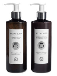 Nilens Jord Hand Soap & Hand Lotion Sæt 2 x 300 ml