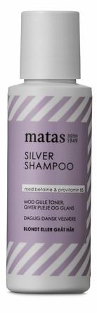 Matas Striber Silver Shampoo til gråt og blondt hår 75 ml, rejsestørrelse