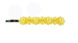 Senze Hårklemme med 4 blomster Yellow