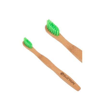 Suztain Tandbørste Barn soft grøn