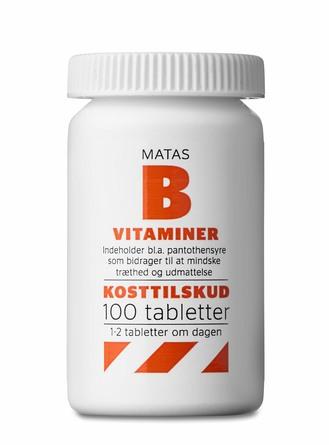 Matas Striber B-vitaminer 100 tabl.