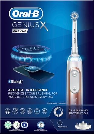 Oral-B (Braun) El-tandbørste Oral-B Genius 20200S  Rose Gold