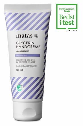Matas Striber Glycerin Håndcreme Uden Parfume 100 ml