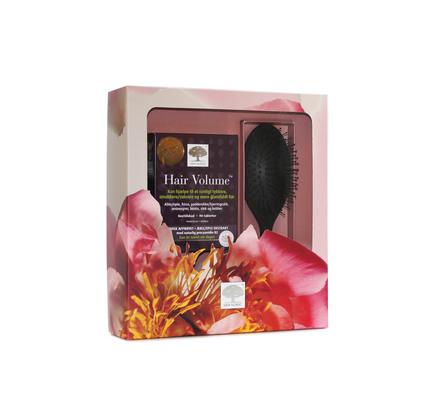 New Nordic Hair Volume™ gaveæske 90 tabl. samt hårbørste