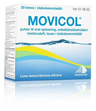 Movicol Pulver til Oral Opløsning med Lemon Smag 20 breve