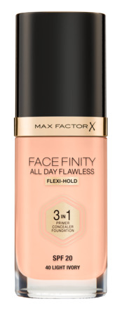 Max Factor All Day Flawless 3 in 1 Foundation 40 Ivory