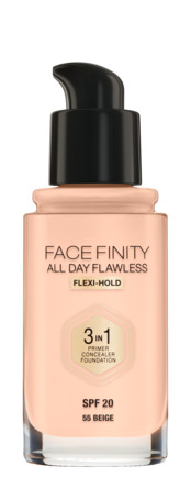 Max Factor All Day Flawless 3 in1 Foundation 55N Beige