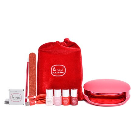 Le mini macaron Le Maxi Gel Manicure Kit, (Limited Edition) Rouge & Moi
