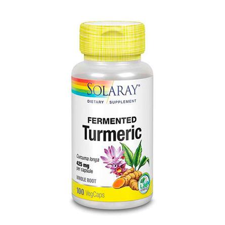 Solaray Fermenteret Turmeric  100 kaps.