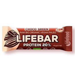 NatureSource Lifebar Choco Green Øko RAW 47 g