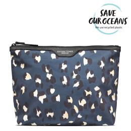Gillian Jones Toilettaske med blå leopard print