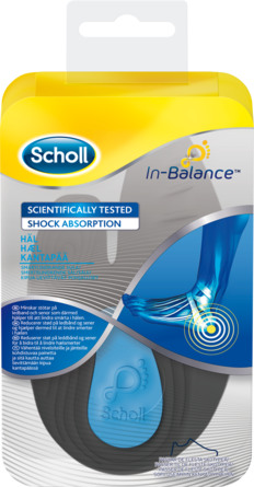 Scholl In-Balance Smertelindrende Sål Str. L - str. 42,5-45 - 2 stk