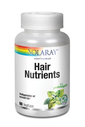 Solaray Hair Nutrients 60 kaps.