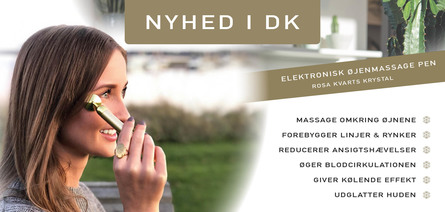 A Pure Mind Elektronisk Øjenmassagepen Rosa Kvarts
