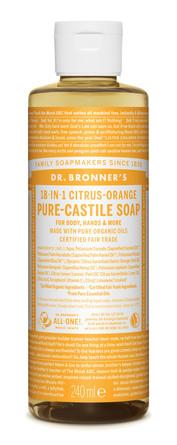Dr. Bronner's Castile Soap Citrus-Orange 240 ml