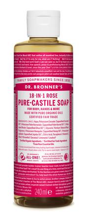 Dr. Bronner's Castile Soap Rose 240 ml